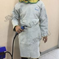 Leather Welding Apron Protective Clothing with full protection type welding cap