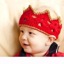 High Quality Kids Baby Wool Headband Infants Girls Knitted Crochet Crown Turban Warm Hairband Accessories
