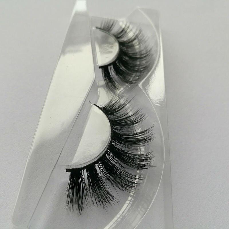 1pair AH28 mink lashes 100 real mink fur Handmade thick individual fake eyelashes