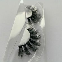 1pair AH28 mink lashes 100% real mink fur Handmade thick individual fake eyelashes