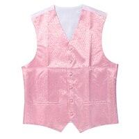 New Mens Top Swirl Wedding Waistcoat Pink 2XL UK 44