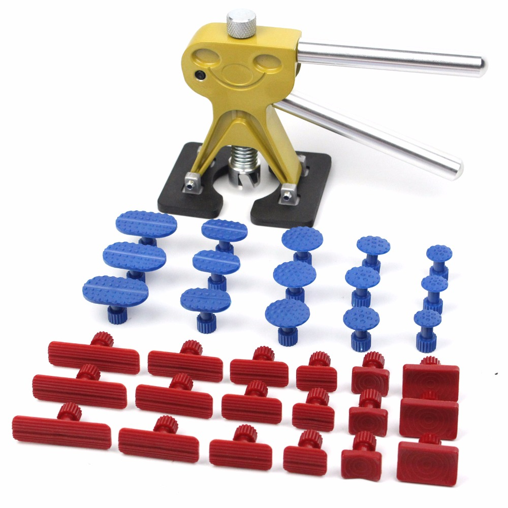mini dent lifter puller Paintless Dent Repair Tools Set PDR Golden Dent Lifter Hail Repair and Dent Removal PDR Tools  цены