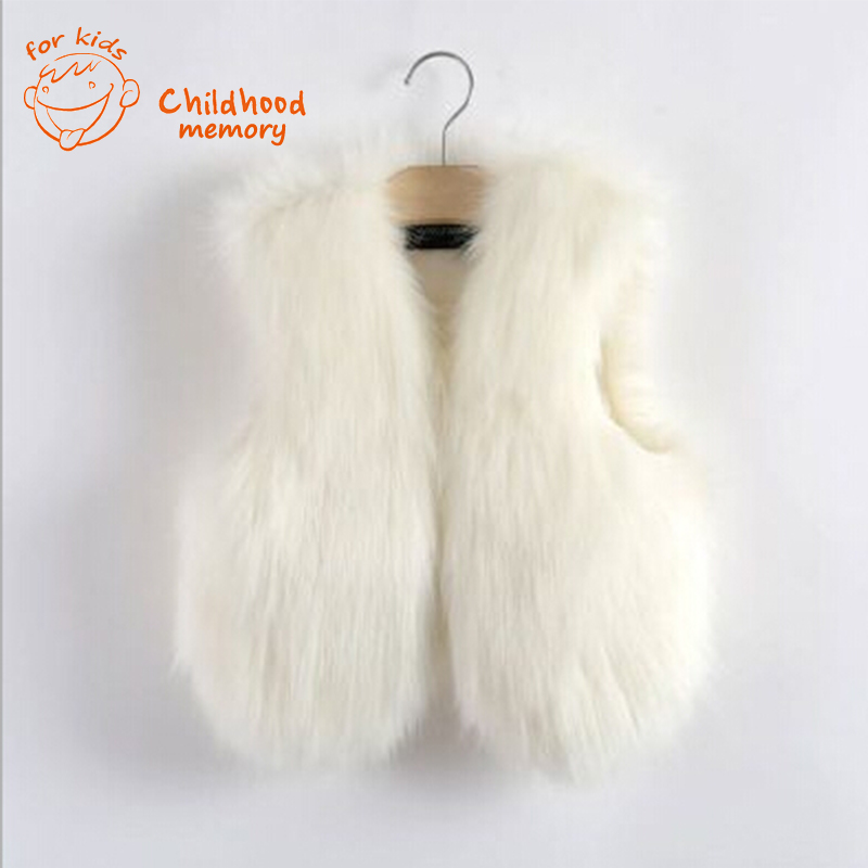 3631351278fc baby waistcoat fur vest girl white faux fur vest kids little girls ...