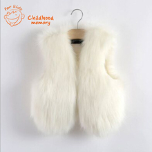 baby waistcoat fur vest girl white faux fur vest kids little girls coats childrens waistcoats gilet black sleeveless outerwear