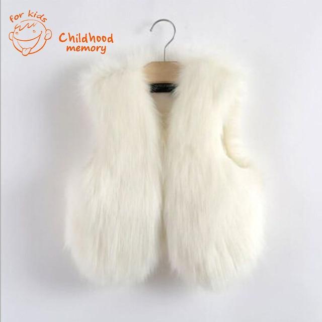 4cac1e222 baby waistcoat fur vest girl white faux fur vest kids little girls ...