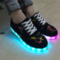 2017 New 8 Color LED Light up Shoes Unisex Women Fashion Casual LED Shoes for Adults USB Charging LED Shoes