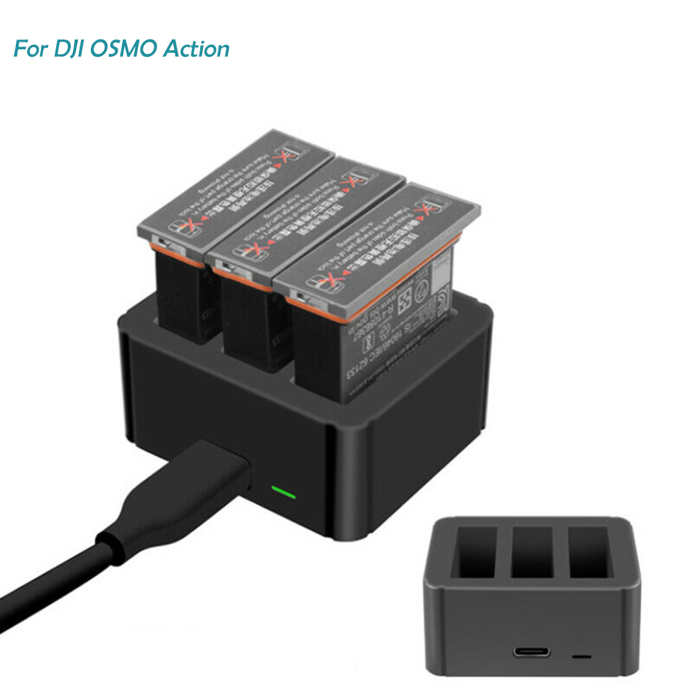 Lithium Battery Charger For Osmo Action Sports Camera Lithium Battery Charger Intelligent Charging For Osmo Action Batteries