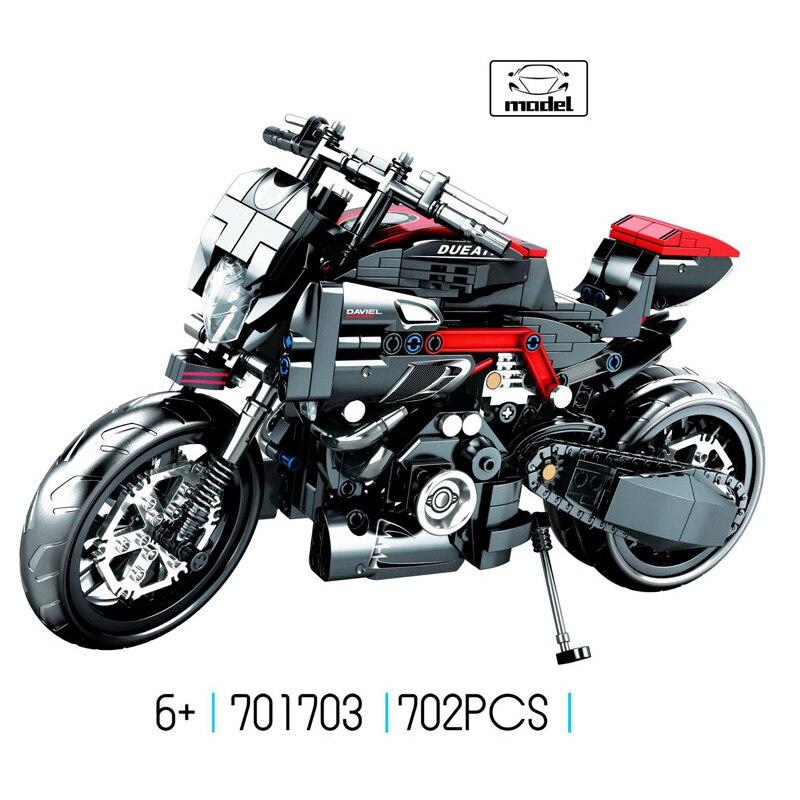 뜨거운 기술 규모 시뮬레이션 ducati 이탈리아 오토바이 moc 빌딩 블록 모델 assemable 벽돌 장난감 컬렉션 소년 선물-에서블록부터 완구 & 취미 의  그룹 1