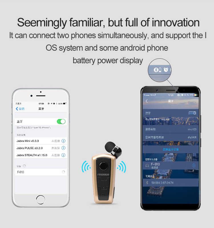 F910 Bluetooth Наушники Беспроводные спортивные наушники для бега с микрофоном Звонки вибрирующие напоминают носить клип наушники для iPhone Xs Max XR
