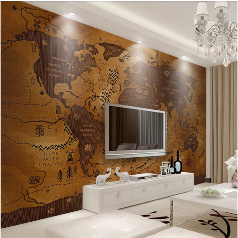 Wellyu Wall Papers Home Decor Custom Wallpaper Retro Old Style