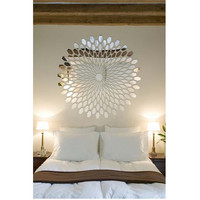 3D Acrylic Mirror Round Circle Pattern Sun Shape DIY Wall Stickers for Home Living Room Sofa TV Background Decorations