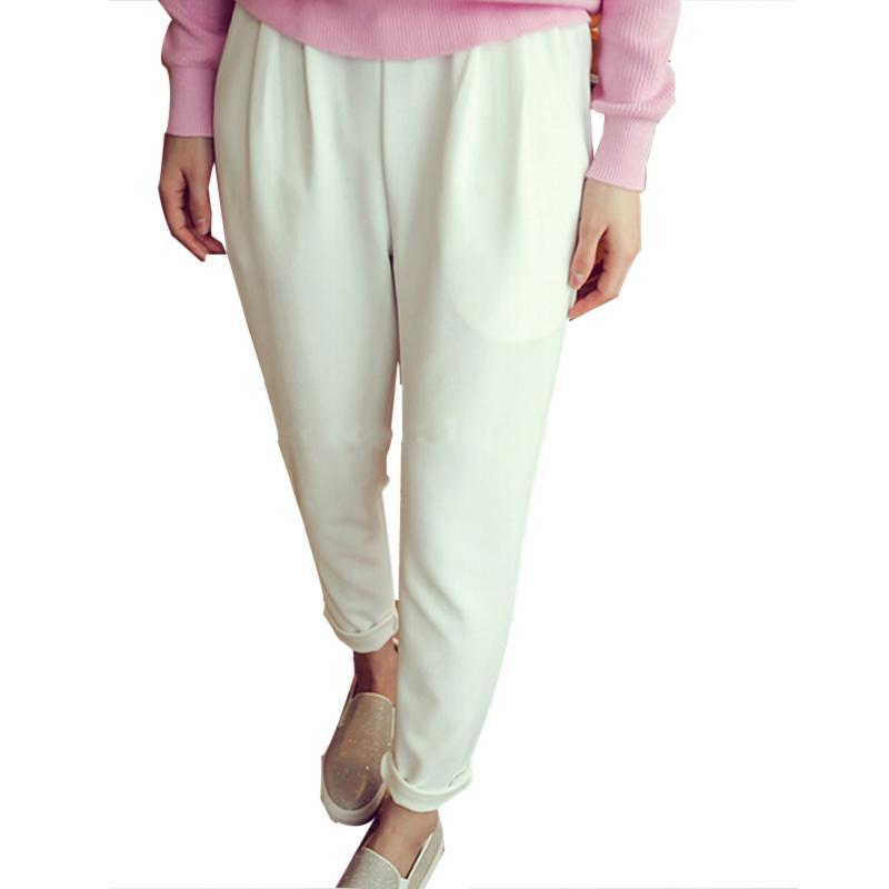 2016 New Casual Summer Harem Pants Women Trousers Elastic ...