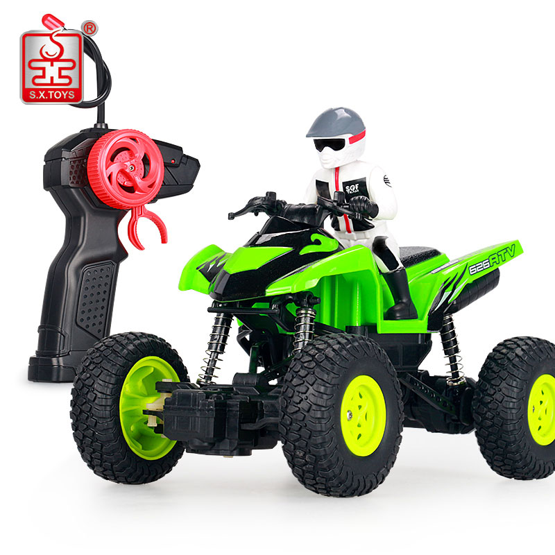 S.X.TOYS RC Car 4WD Toys for Boys Machines on The Control Panel Remote Control Car Rubber Wheels Radio-Control Car Model Kid Toy