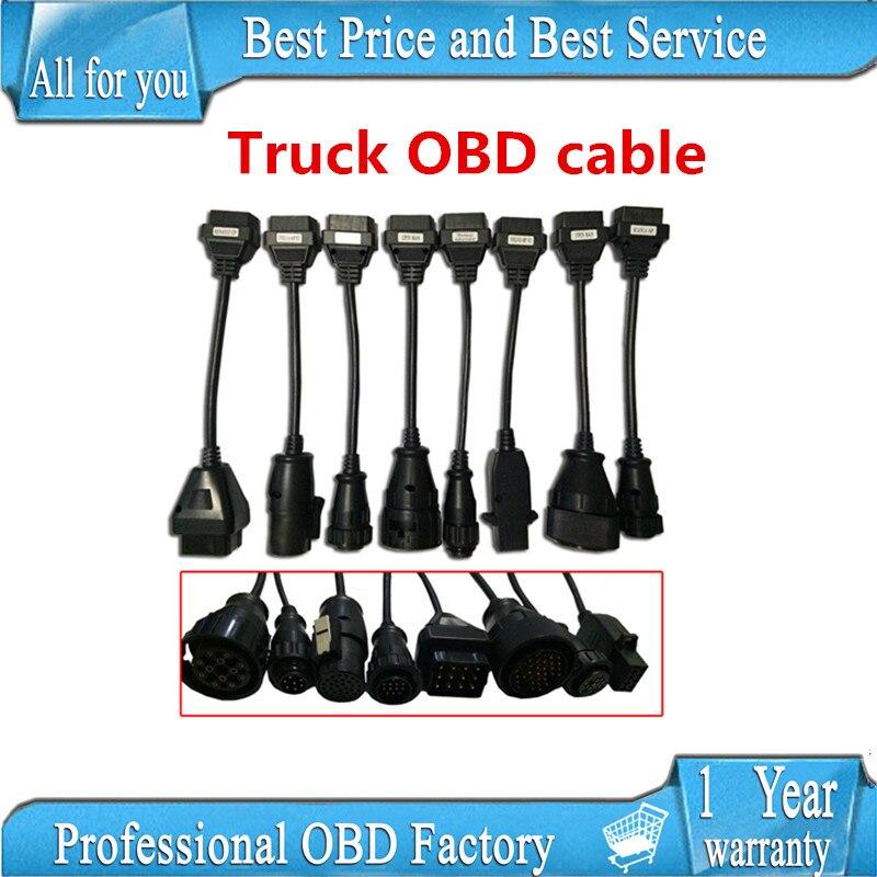 Prix pour Camion Câbles VD TCS CDP Pro OBD2 OBDII Camions outil De Diagnostic câble de connexion 8 PCS Camions Câble CDP Plus pour WOW CDP SNOOPER