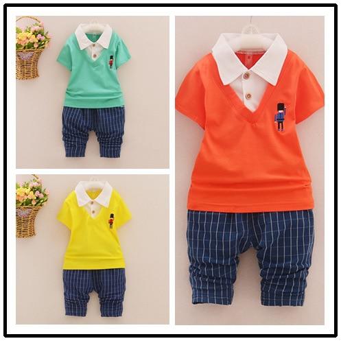 b4793d6db طفل بنات/بنين مجموعة الصيف الجديدة ملابس الأطفال مجموعة أطفال الطفل الأزياء  الدعاوى قصيرة الأكمام عارضة دعوى الرأفة