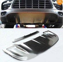Aluminium Alloy Front + Rear Bumper Skid Protector Guard Plates For Porche Cayenne 2011 2012
