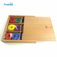 Baby Kids Toys Froebel GABE 9 Wood Colorful Circles Teaching Tool Learning Educational Preschool Training Brinquedo Juguets