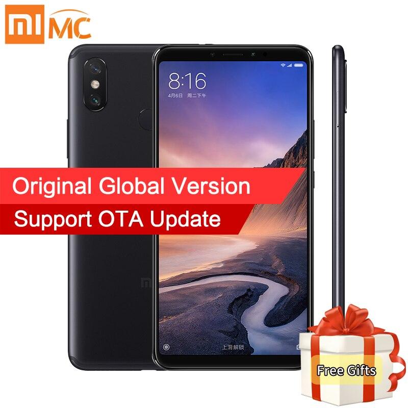 Versão Global Xiao mi mi Max 3 4 gb 64 gb Smartphones 6.9 1080 p Tela Cheia Snapdragon 636 octa Núcleo 5500 mah QC 3.0 AI Câmera Dupla