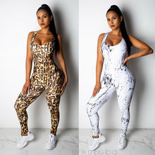 New Women Ladies Fashion Casual Summer Jumpsuit Fitness Legging Sports Workout G