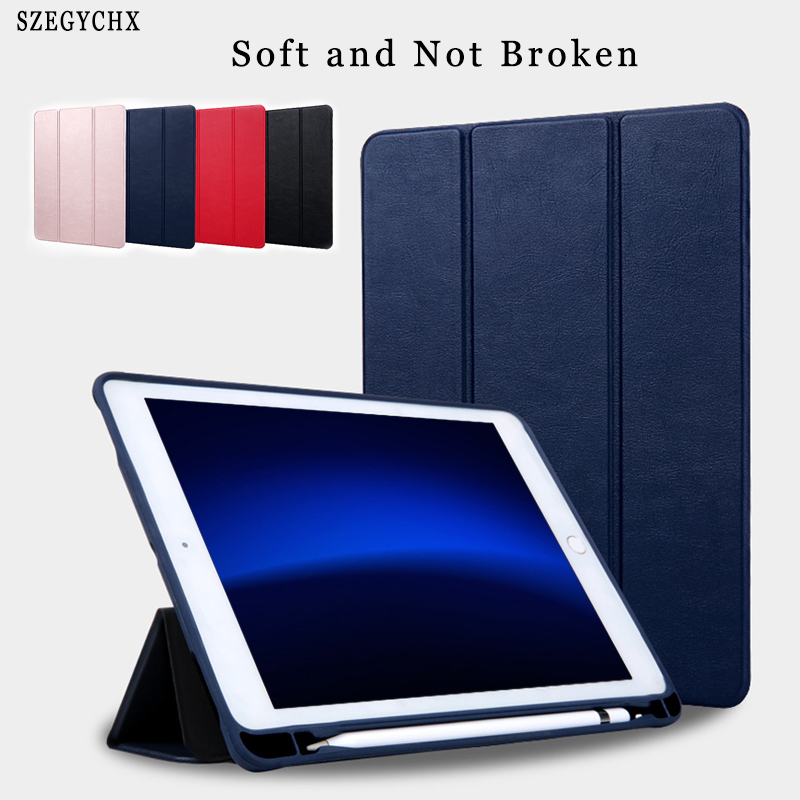 Case For iPad Air 1 Air 2 Pro 9.7 Universal with soft Pencil Holder PU Leather Smart Stand Cover For ipad 5 6 Auto Sleep Wake usams ipa2kx01 protective pu pc case w stand auto sleep for ipad air 2 black