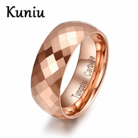 Fashion Rose Gold Plated Tungsten Carbide Ring Wedding Jewelry Mens Ring 8mm Tungsten Ring