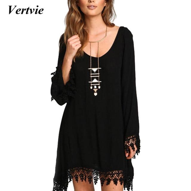 941708802c8 2019 Black Beach Dress Women Party Tassel Vestidos Long Sleeve Skirt  Sundress Plus Size 4XL 5XL Pareos For Women Beach Tunic
