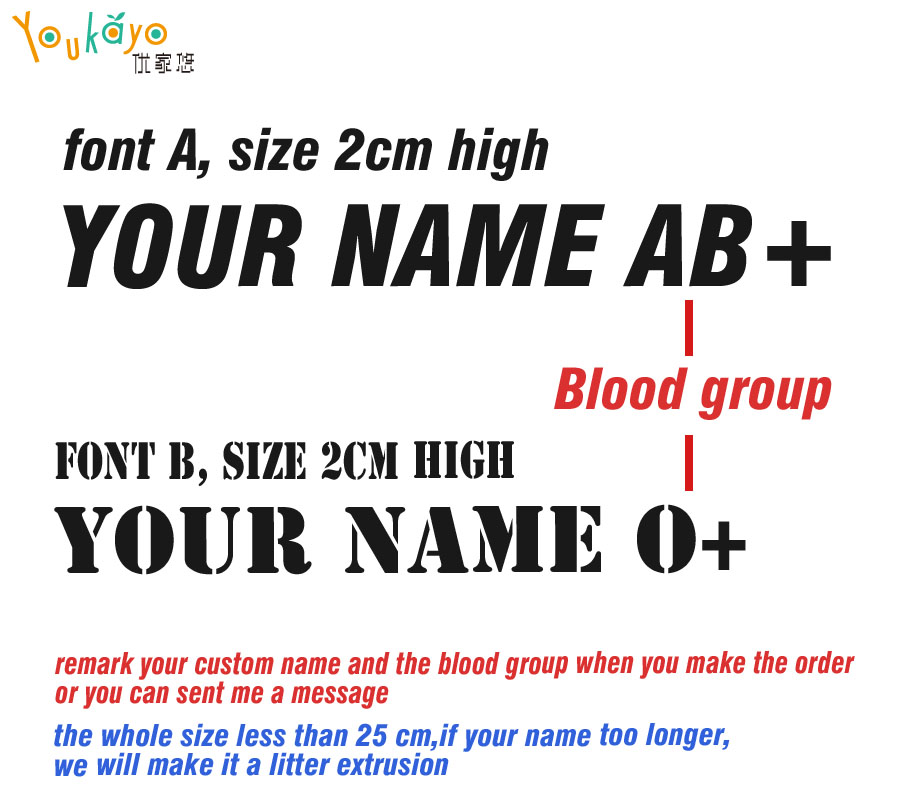 Any Flag /& Colour 3x Personalised Bike Helmet Blood Group Safety Decal 35mm