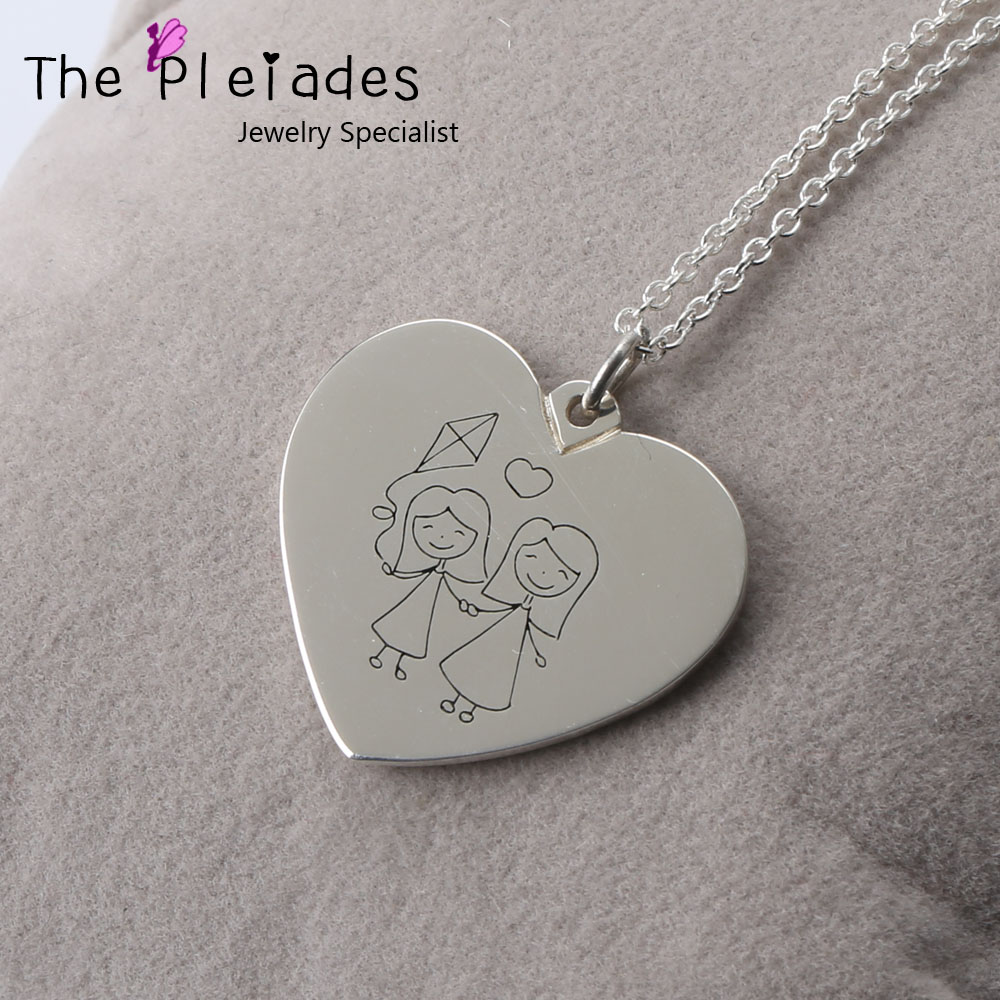 store mother personalized silver keepsake with jewelry brother father fingerprint sister mom birthstone wedding dad necklace daughter