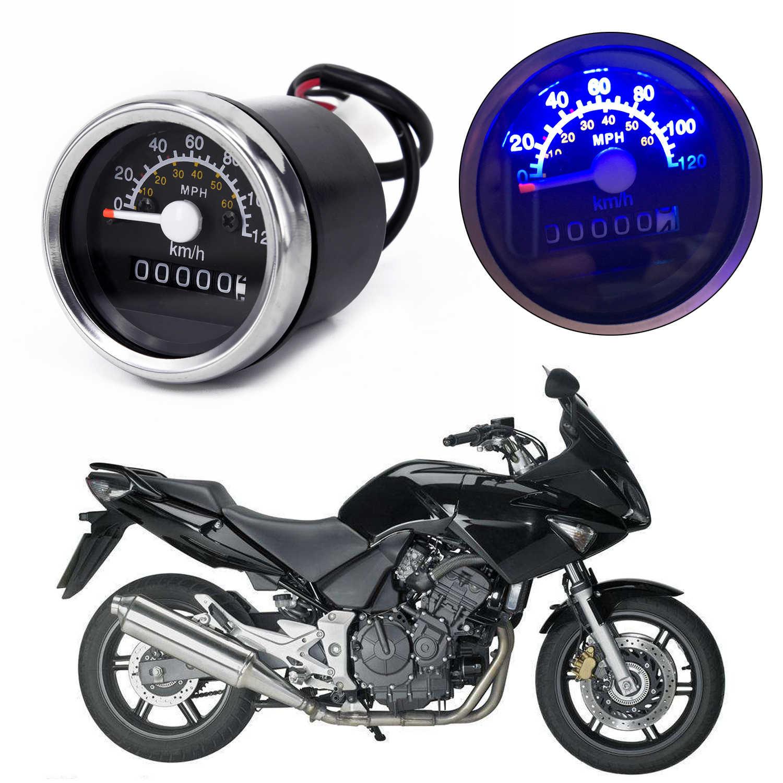 Plastic Odometer Black Motorcycle Speedometer Motorbike Gauge Replacement  Round Motor 12V Universal NEW Practical