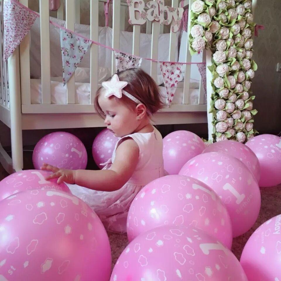 12 Inch 20pcs/Lot  Happy Birthday Decoration Blue 1 Year Old Birthday Balloons M