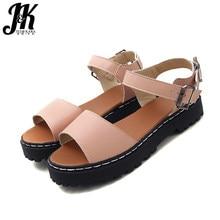 e8a7d7026 JK 2018 летние сандалии на платформе женская повседневная обувь женские  Сандалии с пряжками и ремешками Модные