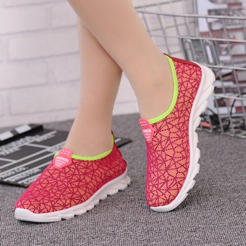 Nueva Moda Transpirable Zapatos de Malla de Aire 2017 de la Mujer Del Verano Par