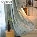 Светонепроницаемые шторы Topfinel с птицами для гостиной  спальни  детской комнаты  декоративные занавески на окна  тюль с драпировкой