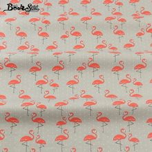 Booksew Pillows 100% Cotton Twill Fabric Red Crowned Crane Pattern Bedding Set Dolls Girl Dress Quilting Clothing Crafts(China)