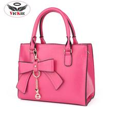 PU Leather Women's Shoulder Bags Bow Women Totes Elegant Messenger Bag Socialite Chains Lady Tote Girl Bolsas Femininas HS74