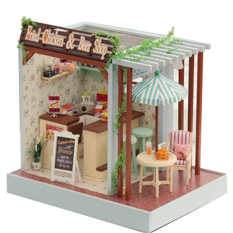 Assemble Miniature Dollhouse DIY Doll House Girl Gift