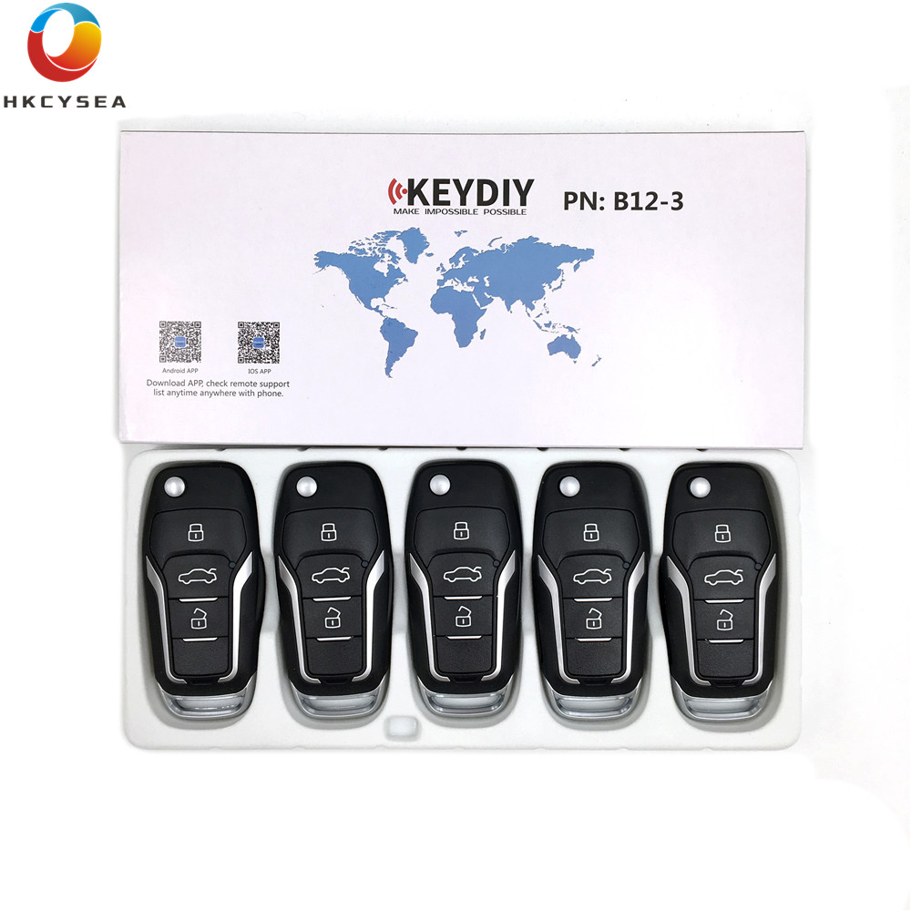 HKCYSEA 5PCS LOT B12 3 for KD900 KD900 URG200 KD X2 Key Programmer KEYDIY B Series