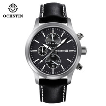 Big dial Watches Men Original Brand OCHSTIN Sport Watch Men Fashion wristwatch Chronograph waterproof Male leather