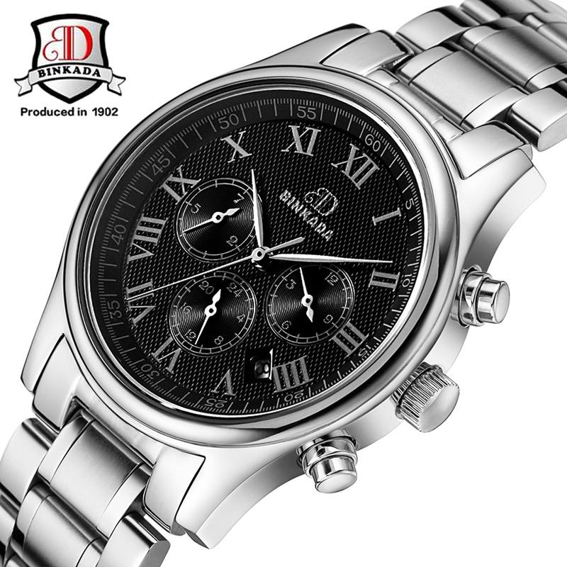 2017 Sapphire Mirror BINKADA Water Resistant Sports Wristwatches Luxury Brand Men Automatic Self-Wind Mechanical Watches pagani men stainless steel watches mechanical wristwatches automatic self wind complete calendar water resistant clock brand