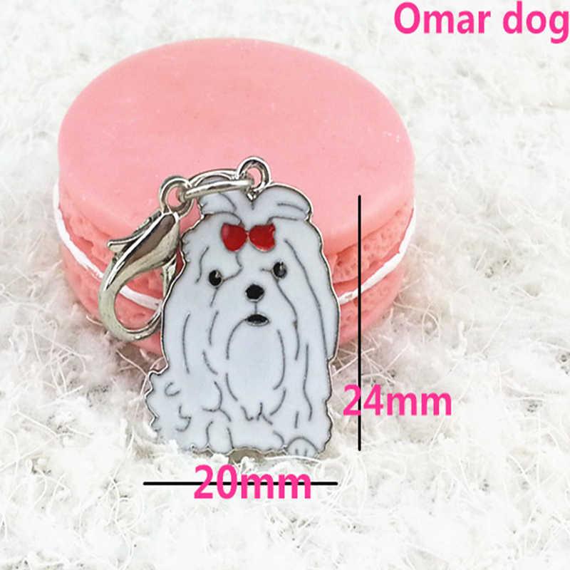 Nuevo colgante pintado para mascotas colgante de alta calidad para mascotas llavero para mascotas decoración para mascotas variedad adecuada para todo tipo de perros