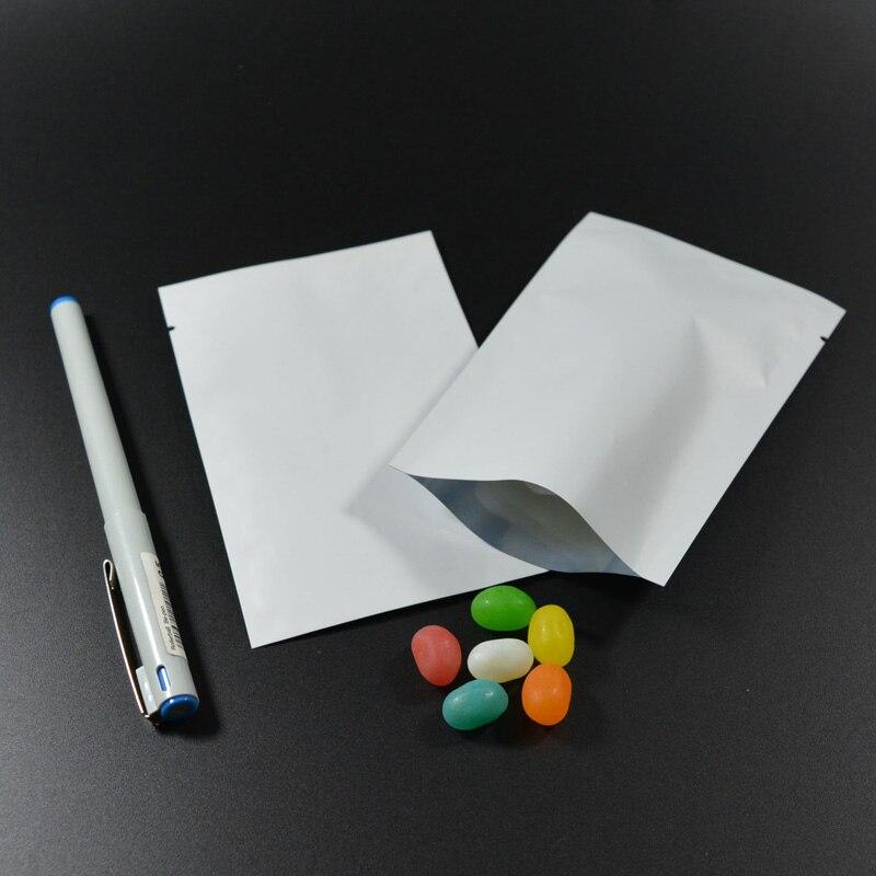 """100 шт 9x13 см(3,"""" x 5,1""""), красочная термопечать, предотвращающая появление запаха мешки из фольги мешки для хранения продуктов - Цвет: Matte White"""