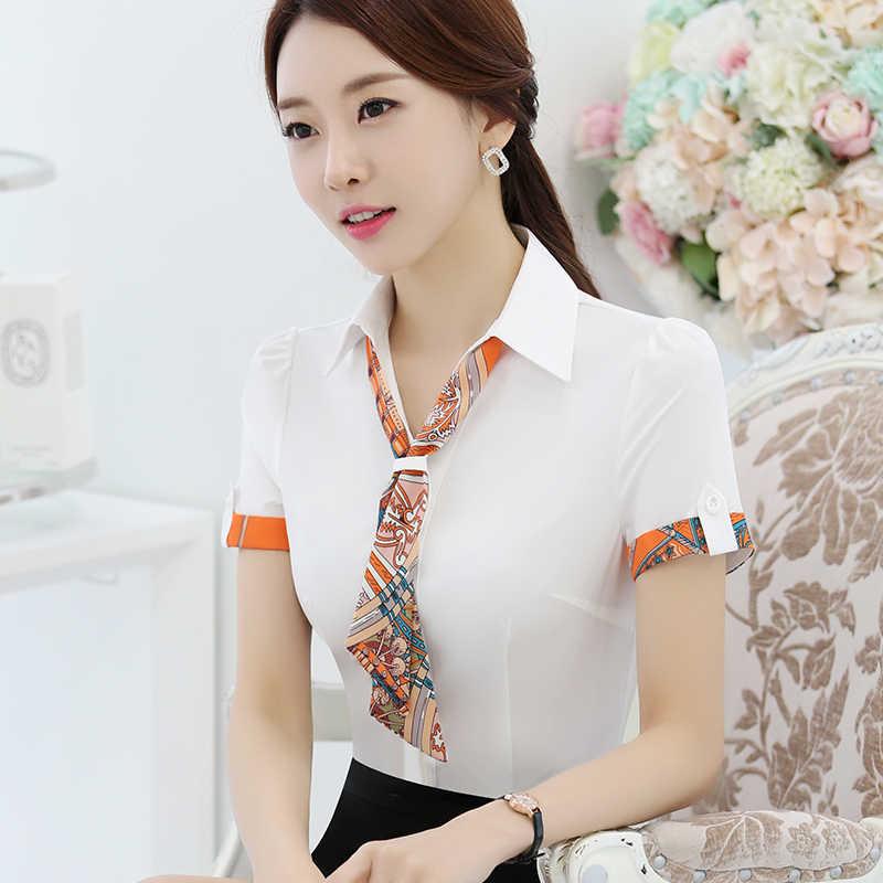 18ba5e3387c Летние шифоновые Блузки для малышек Для женщин Мода элегантный v-образным  вырезом Рубашки для мальчиков