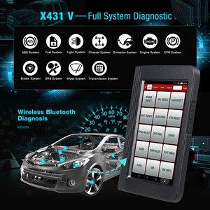 Image 2 - Lansmanı X431 V 8 inç araba tam sistem OBD2 tarayıcı teşhis otomatik aracı OBDII kod okuyucu desteği Bluetooth/Wifi çoklu dil