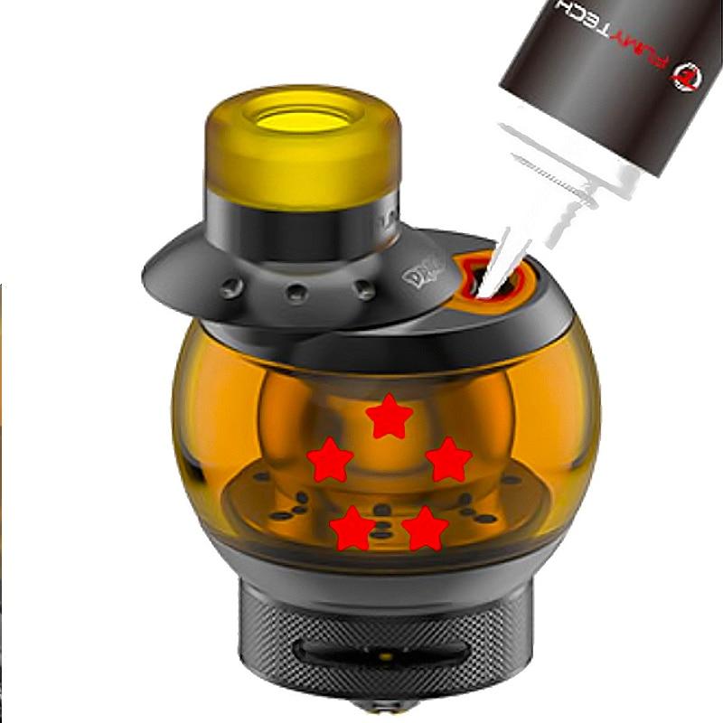 Original Fumytech Dragon Ball RTA Tank 5.5ml POM Drip Tip E-cigarette Rebuildable Atomizer with DIY Coil Cotton