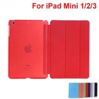 Different Colors PU Slim Stand Case For Apple IPad Mini Case Cover For IPad Mini 1