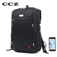 CCZ 14 Inch Laptop Backpack Fashion Backpack For Men High Quality Nylon Bag With USB Charging