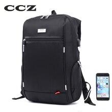 CCZ 14 zoll Laptop Rucksack Männlichen Mode Rucksack Für Männer Nylontasche Usb-gebühren Bagpack Wasserdichte Rucksäcke Mochila BK8016