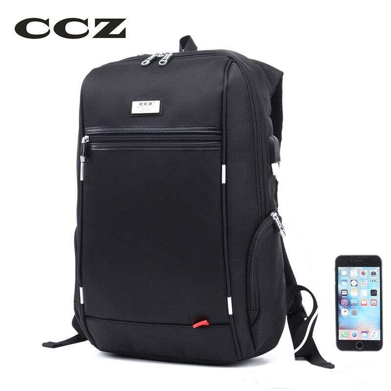 CCZ 14 inch Laptop Backpack Male Fashion Backpack For Men Nylon Bag USB Charge Bagpack Waterproof Backpacks Mochila BK8016