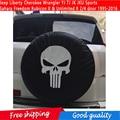 Tampa Do Pneu de reposição com Logotipo Para Jeep Cherokee Liberdade Wrangler YJ TJ JK JKU Esportes Rubicon Sahara Liberdade X Unlimited X 2/4 porta