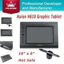 """Nueva HUION H610 10 """"x 6"""" 4000 LPI 220 RPS 2048 Niveles Genuino Firma Tabletas Tabletas Arte Tableta Gráfica Dibujo Profesional"""